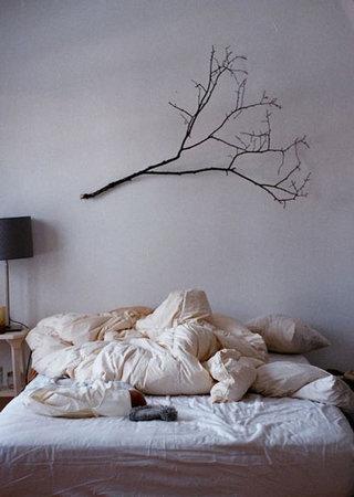 树枝装饰卧室装修设计