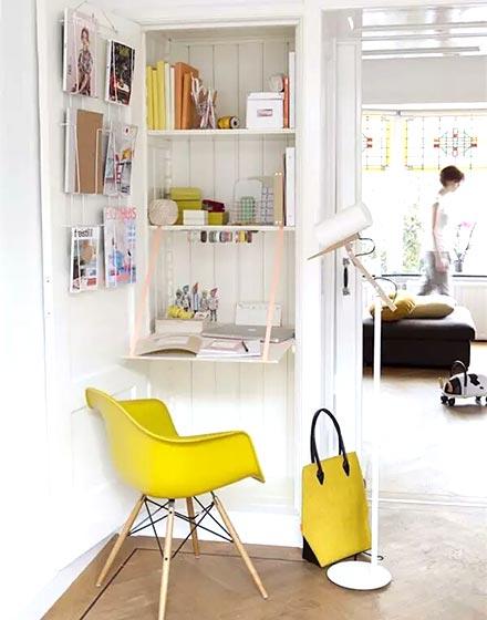 小户型墙面折叠书桌