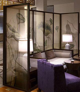中式屏风客厅图片
