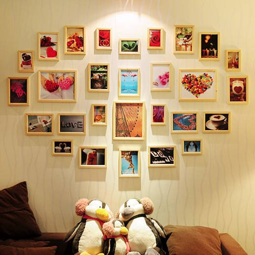 美式缤纷照片墙效果图