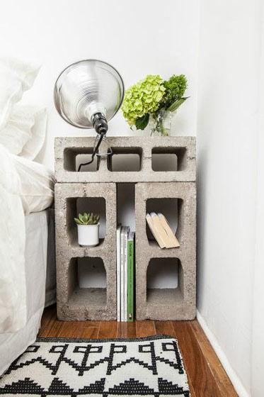 水泥砖床头柜图片