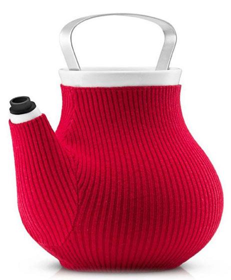 红色茶壶毛线套