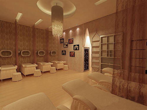 美容院10-15万120-140平米 0 现代美式风格装修三居室家居效果图 三居图片