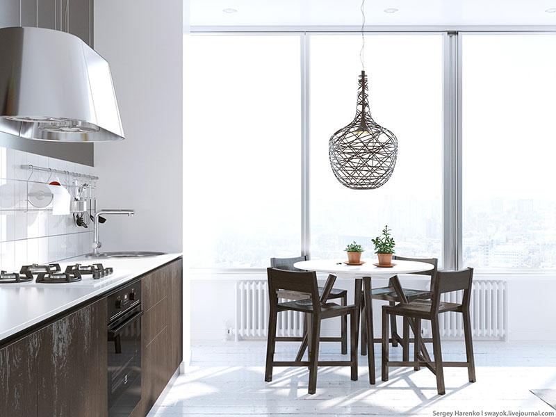 白色装修风格餐厅厨房设计