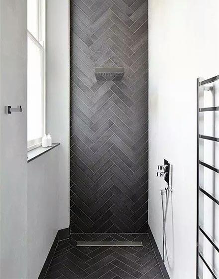 创意卫浴间地砖铺设法
