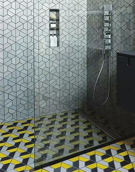 创意错位视觉卫浴间地砖