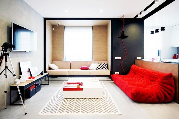 简约风格效果图客厅沙发设计