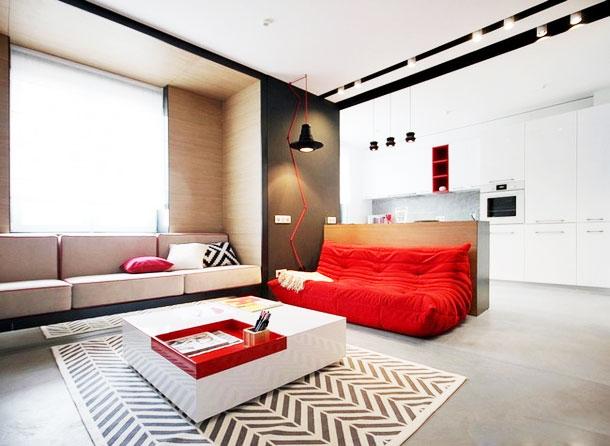 简约风格效果图客厅设计