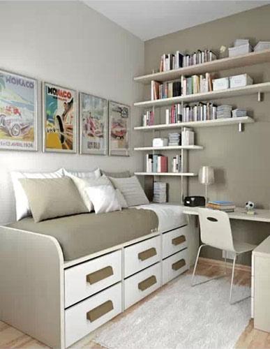 简约卧室书房效果图