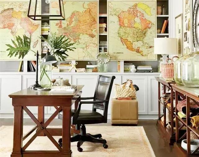 美式风格书房实木家具