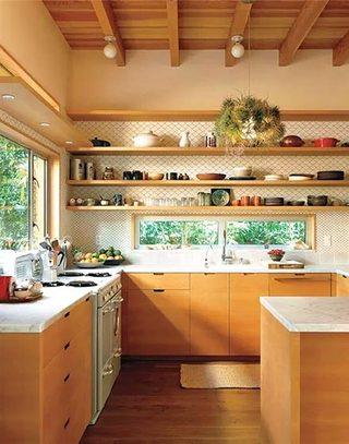 原木色厨房设计