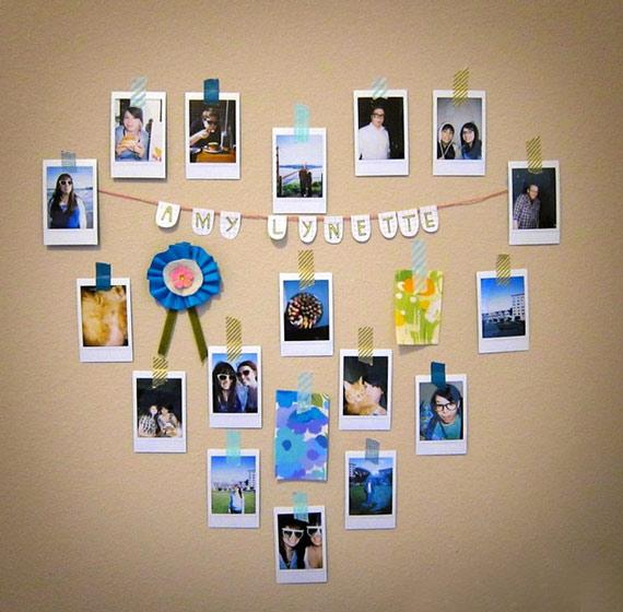 心形照片墙效果图片