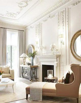 优雅复古欧式客厅设计