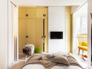 75平米乡村田园风格卧室柜子设计