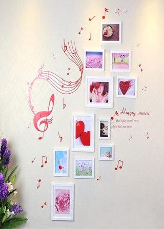 甜蜜照片墙装修图片
