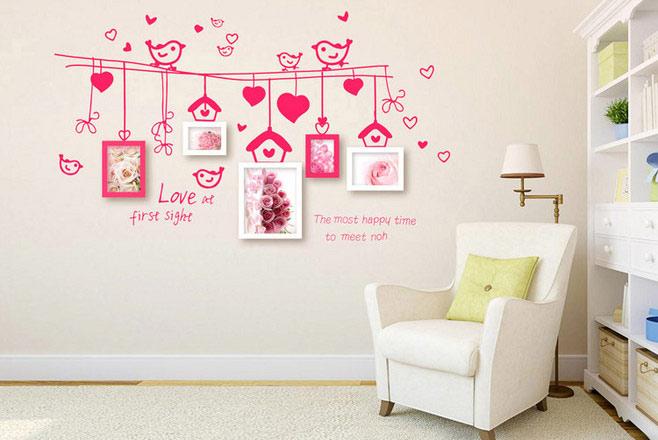 甜蜜照片墙设计图片