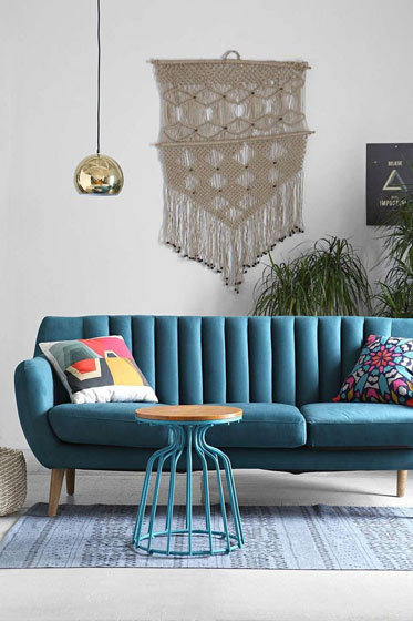 彩色双人沙发设计效果图