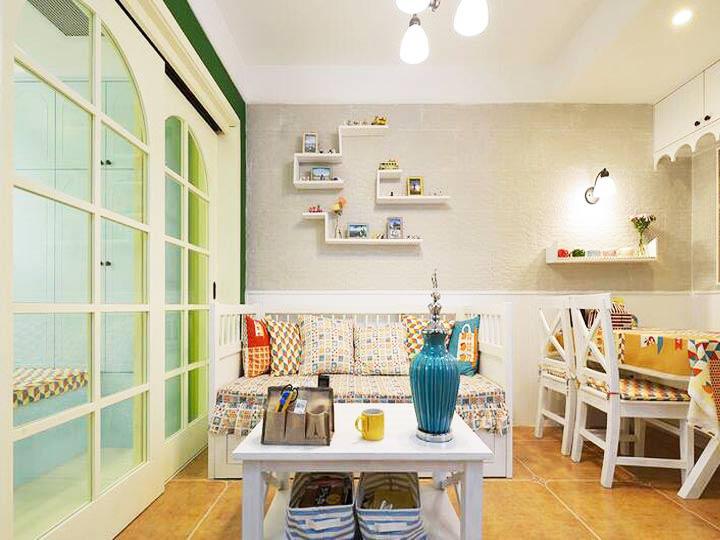 55平米装修效果图客厅餐厅设计