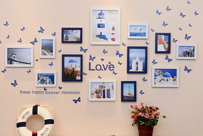 可爱照片墙效果图