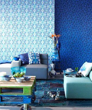 不同壁纸均衡装饰背景墙
