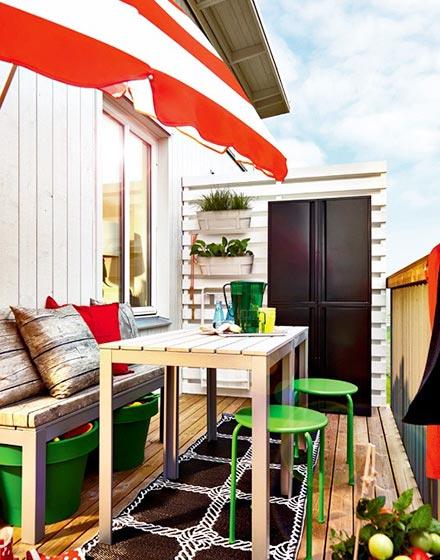 清新舒适阳台餐厅设计