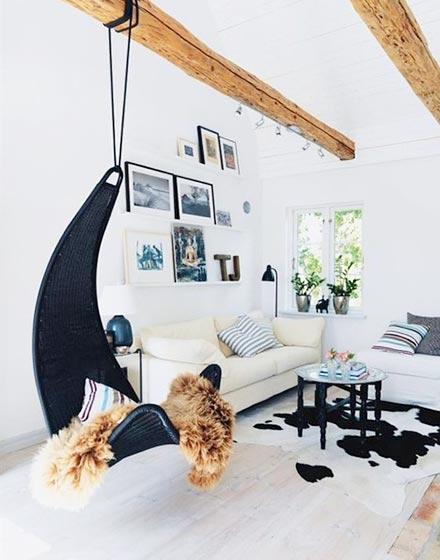 创意室内吊椅设计_齐家网装修效果图图片