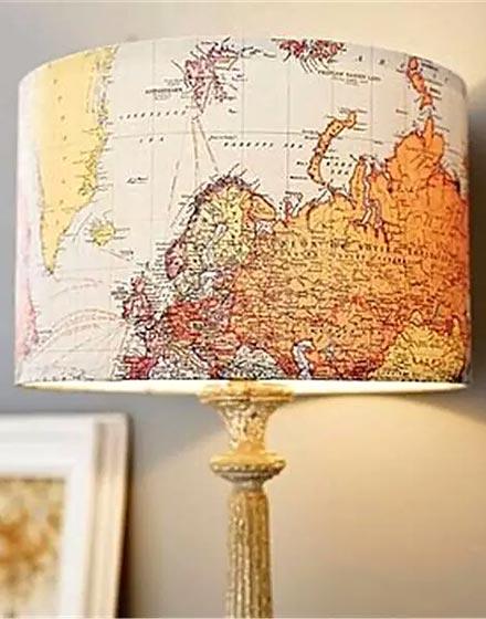 创意地图元素台灯设计