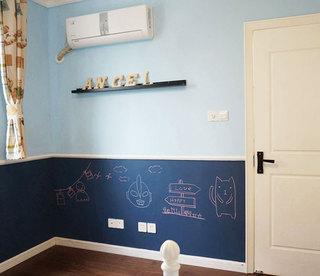 90平米简约风格家儿童房背景墙设计