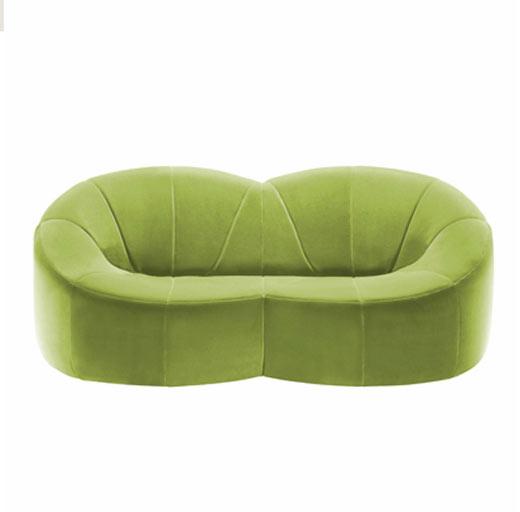 绿色荷叶装沙发