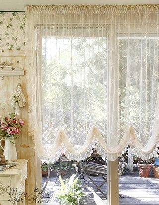 米色蕾丝窗帘