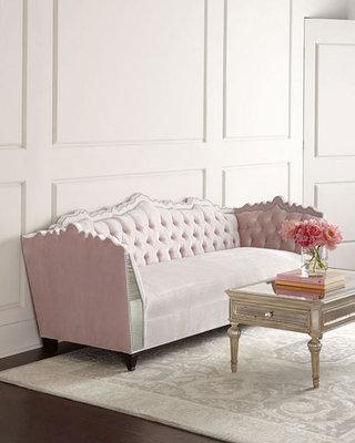 淡粉色新古典沙发