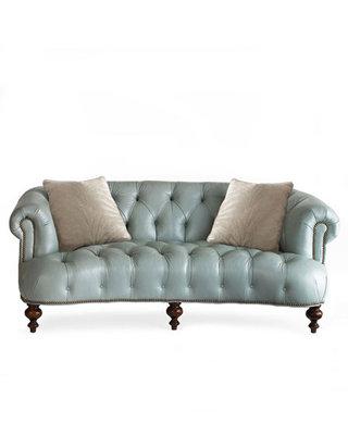 皮质新古典沙发