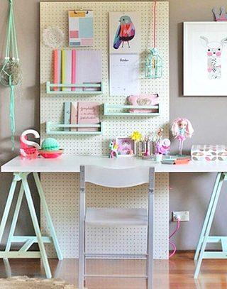 清新可爱儿童小书房设计