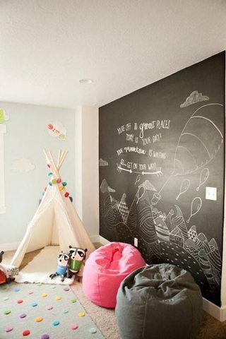 涂鸦黑板墙装修效果图片