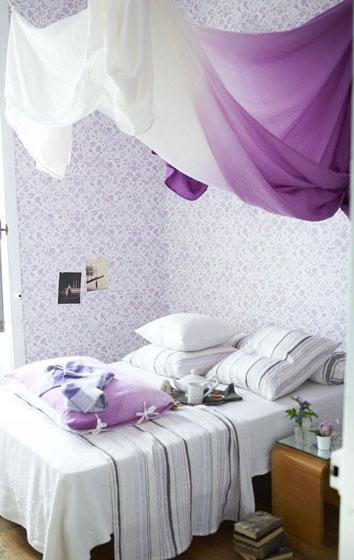 梦幻紫色卧室效果图