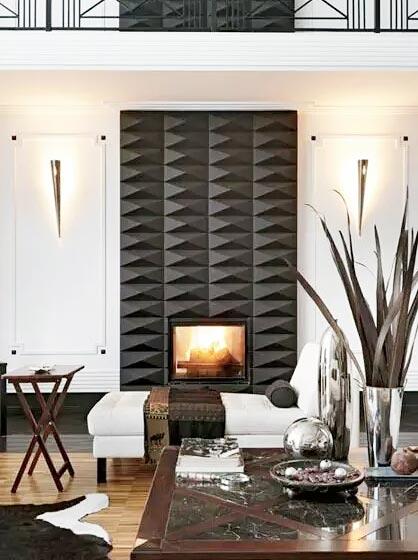 火炉成为客厅最好装饰品