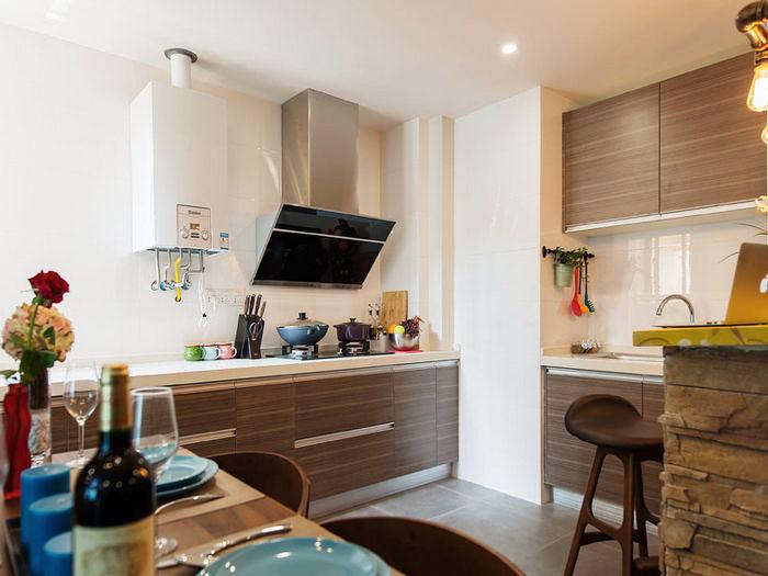80平装修效果图厨房设计