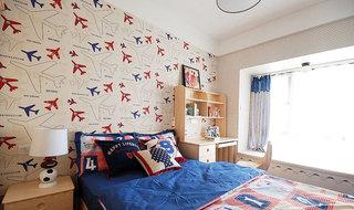 经典美式儿童房背景墙设计