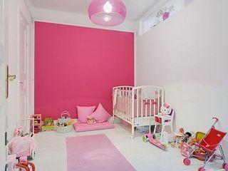 玫粉色可爱儿童房效果图