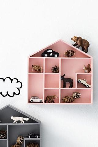 粉色童趣收纳柜设计