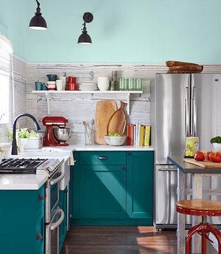 清新蓝色绿色厨房
