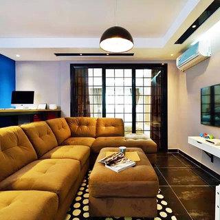 55平米的温馨生活客厅沙发设计