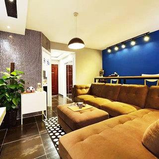 日式混搭风客厅沙发设计