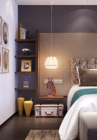 色彩斑斓成块卧室背景墙设计
