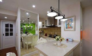 美式风格两室一厅绿色90平米效果图