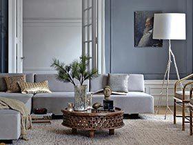 优雅高级灰 12个简约灰色客厅设计