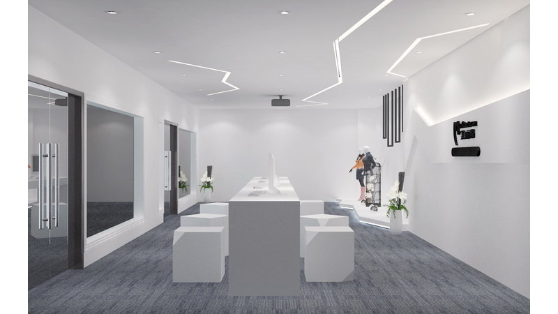 世纪广场展厅装修效果图,室内设计效果图 齐家装修网