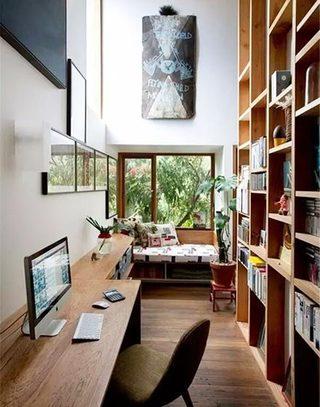 封闭阳台改造书房设计