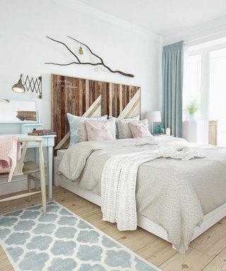 明亮森系北欧风卧室装潢设计