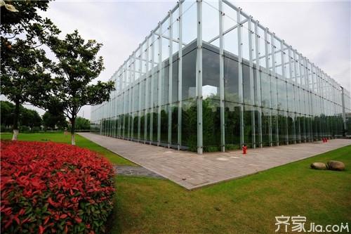 齐家百科 装修百科 施工安装 玻璃幕墙  一,明框玻璃幕墙   框玻璃